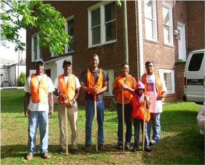 Volunteers for cleanup