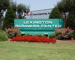 Lexington Business Center sign with Roehrig Engineering