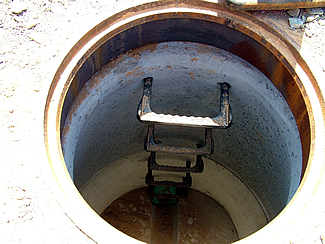 inside of a new manhole
