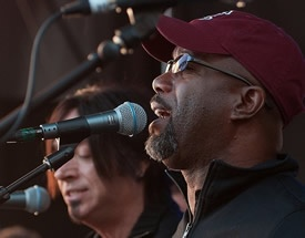 Darius Rucker on stage at BBQ Festival