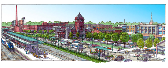 Rendering of future Depot District