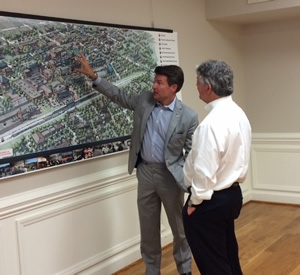 Norfolk Southern reps review Depot District plans with Mayor Clark