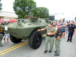 Armored Personnel Carrier displayed at National Night Out