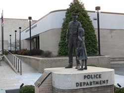 Statue in front of Police Department