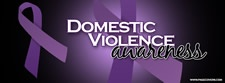 Domestic Violence purple ribbon