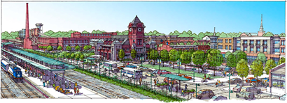 Rendering of Depot District