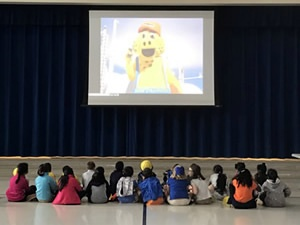 "Local students learn about natural gas leak detection with ""Sniffy"" movie"