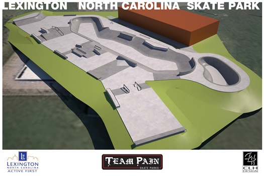 Lexington NC Skate Park Layout