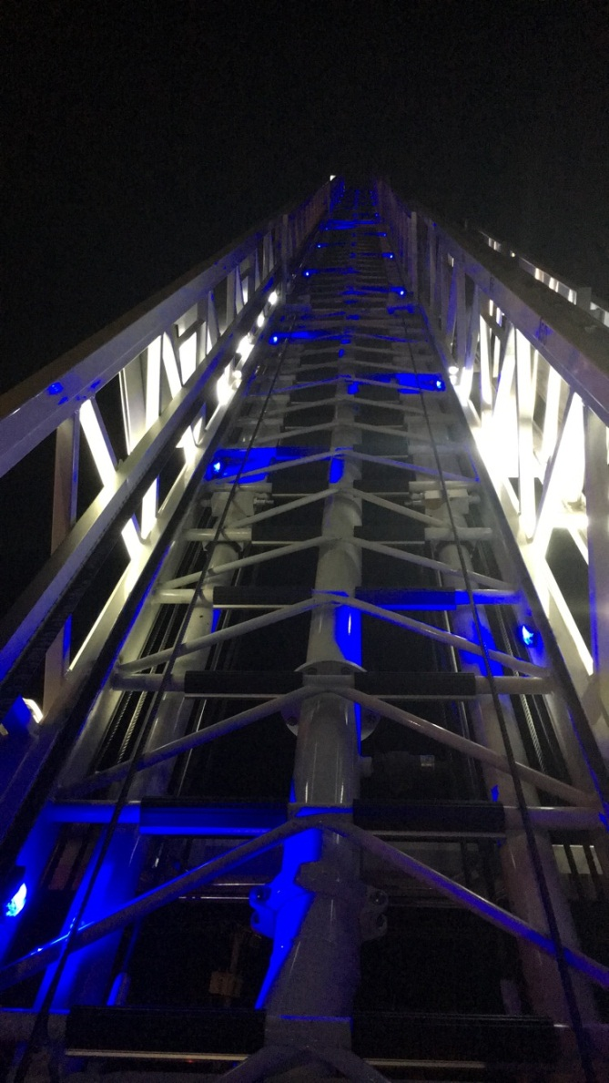 Ladder at night