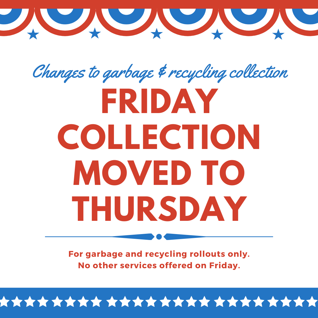 July 4 Waste Collection Schedule