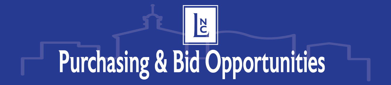 Purchase and Bid Opportunities Banner