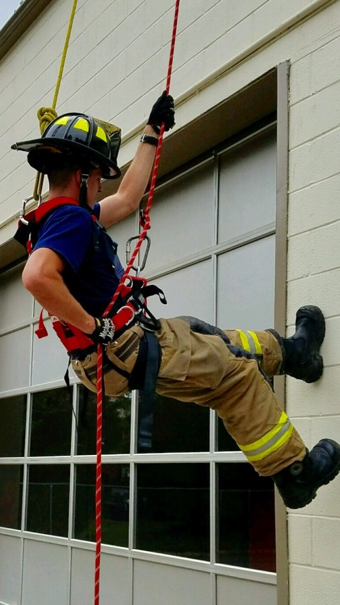 Firefighter Climbing Wall