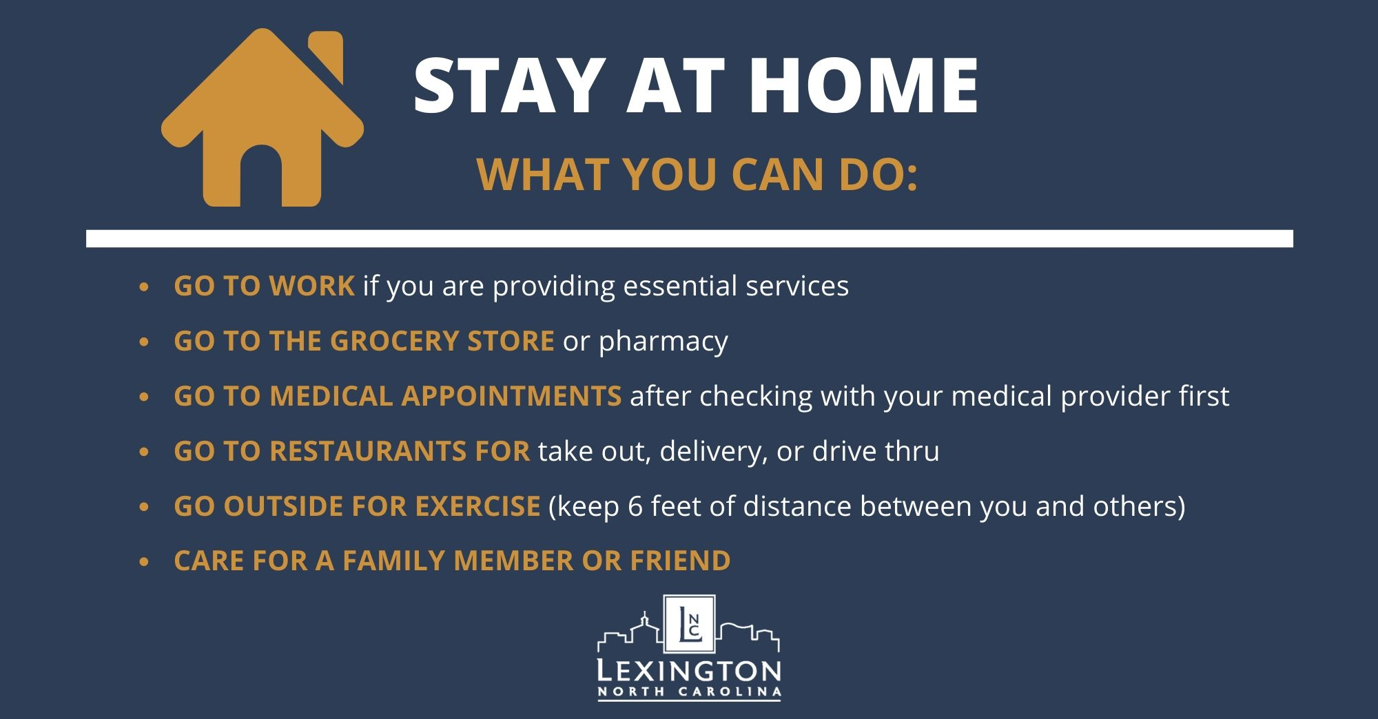 Stay at Home Recommendations